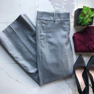 J. Crew City Fit Boot Cut Grey Wool Dress Pants